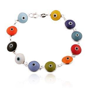 Jewelry - Multicolored Rainbow Evil Eye Bracelet